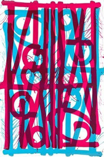 Ludavico & Ludovico (Blue  and Pink) 2018 Super Huge Limited Edition Print -  RETNA