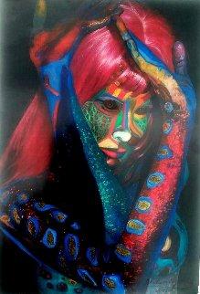 Untitled Painting 2002 16x11 Original Painting by Shahrokh Rezvani
