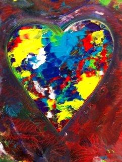 Heart #4 Creation 2019 23x18 Original Painting - Shahrokh Rezvani