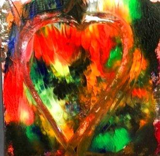 Heart #6 Creation Original 2019 23x18 Original Painting - Shahrokh Rezvani