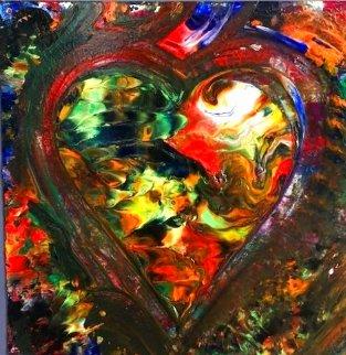 Heart #7 Creation Original 2019 23x18 Original Painting - Shahrokh Rezvani