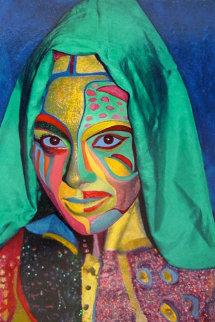 Solitude III 2007 30x24 Original Painting - Shahrokh Rezvani