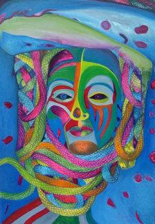 Primal V Original Painting - Shahrokh Rezvani