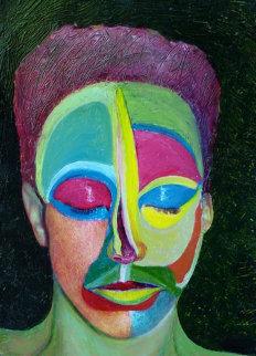Solitute IV 2007 19x27 Original Painting by Shahrokh Rezvani