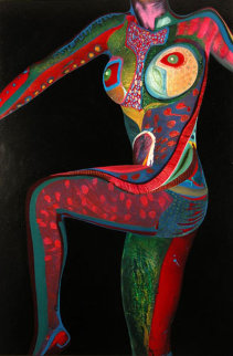 Torso #2 2002 45x30 Super Huge Original Painting - Shahrokh Rezvani