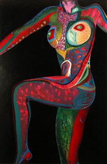 Torso #2 2002 45x30  Huge Original Painting - Shahrokh Rezvani