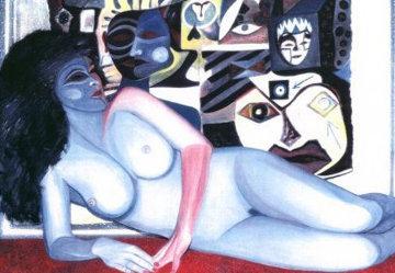 American Madonna Suite, #20 2010 22x26 Original Painting - Shahrokh Rezvani