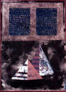 Mystical Egypt 41x31 Original Painting - Shahrokh Rezvani