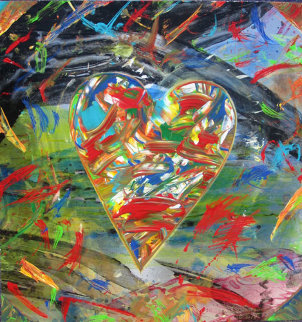 Heart in Motion 30x22 Original Painting - Shahrokh Rezvani