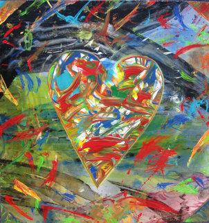 Heart in Motion 30x22 Original Painting - Shahrokh Rezvani