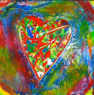 Passionate Heart #1 2009 25x17 Original Painting - Shahrokh Rezvani