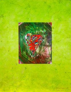 Passionate Heart, #2  2000 22x17 Original Painting - Shahrokh Rezvani