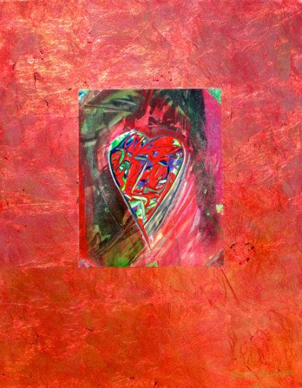 Heart of Joy #1 22x17 Original Painting by Shahrokh Rezvani
