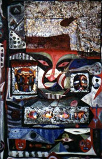Mysticism 1996 63x41 Huge Works on Paper (not prints) - Shahrokh Rezvani