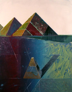 Rock Construction,  Masoud Yasami-Sharoakh Rezvani Collaboration 1980 Works on Paper (not prints) by Shahrokh Rezvani