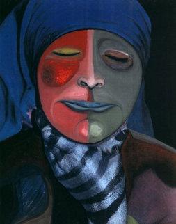 Pain #1 14x11 Original Painting - Shahrokh Rezvani