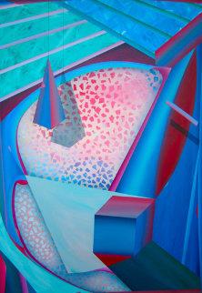 Mystical Equilibrium #6 1987 65x45 Original Painting - Shahrokh Rezvani