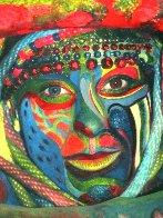 Tribal #1 2013 18x12 Original Painting by Shahrokh Rezvani - 1