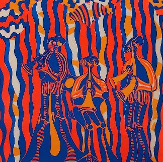 Musicians AP 1974 Limited Edition Print - Shahrokh Rezvani
