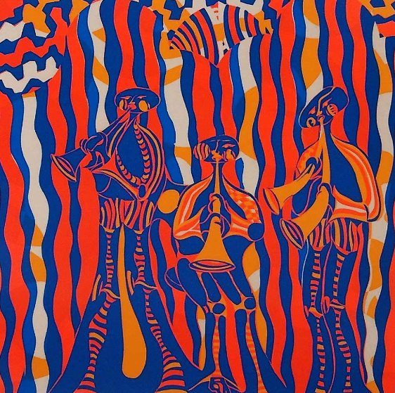 Musicians AP 1974 Limited Edition Print by Shahrokh Rezvani