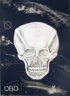 Death Dishonor Monoprint 2001 Works on Paper (not prints) - Rudy  Fernandez
