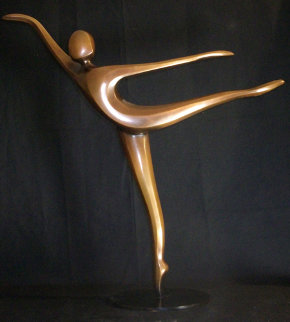 Arabesque Bronze Sculpture 2003 24 in Sculpture - Robert Holmes