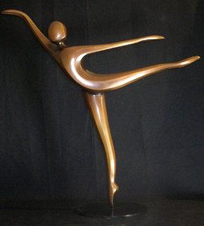 Arabesque Bronze Sculpture 2003 24 in Sculpture by Robert Holmes
