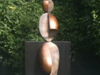 Positive / Negative Leaning Life Size Bronze Sculpture 2001 84 in Sculpture by Robert Holmes - 1