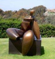 Seated Figure IV (Monumental) Bronze Sculpture AP 1993 72x60x57 Sculpture by Robert Holmes - 1
