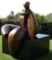Seated Figure IV (Monumental) Bronze Sculpture AP 1993 72x60x57 Sculpture by Robert Holmes - 2