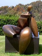 Seated Figure IV (Monumental) Bronze Sculpture AP 1993 72x60x57 Sculpture by Robert Holmes - 4