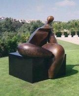 Seated Figure IV (Monumental) Bronze Sculpture AP 1993 72x60x57 Sculpture by Robert Holmes - 0