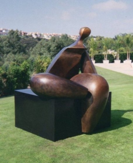 Seated Figure IV (Monumental) Bronze Sculpture AP 1993 72x60x57 Sculpture by Robert Holmes