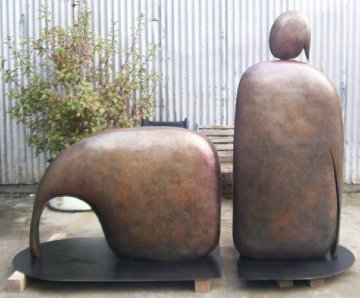 I Am Reclining (Large) Bronze Sculpture AP 1992 96x60 in Sculpture by Robert Holmes