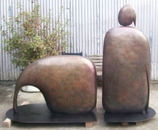 I Am Reclining (Large) Bronze Sculpture AP 1992 96x60 in Sculpture by Robert Holmes