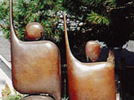 I Am Standing Arms Raised Bronze Sculpture 1992 80x40 in Huge Sculpture by Robert Holmes - 4