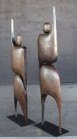 I Am Standing Arms Raised Bronze Sculpture 1992 80x40 in Huge Sculpture by Robert Holmes - 2