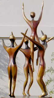 Rhapsody, 4 Life Size Figures Bronze Sculpture AP  1996 96x48 in Sculpture by Robert Holmes