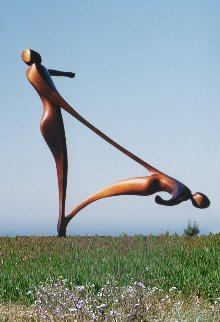 On Thin Ice (Large) Bronze Sculpture 1992  120 in Sculpture by Robert Holmes