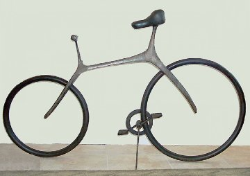Bicycle (Large) Bronze Sculpture 2007 68 in Sculpture by Robert Holmes