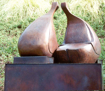 Conversation Bronze Sculpture 38x36 in Sculpture - Robert Holmes