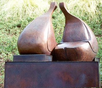 Conversation Bronze Sculpture 38x36 in Sculpture by Robert Holmes