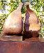 Conversation Bronze Sculpture 38x36 in Sculpture by Robert Holmes - 2