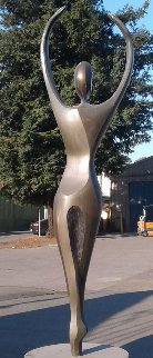 Solo  Life Size Bronze Sculpture 2001 80 in Sculpture by Robert Holmes