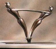 Duo  Bronze Sculpture 1999 22 in Sculpture by Robert Holmes - 0