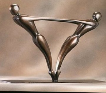 Duo  Bronze Sculpture 1999 22 in Sculpture - Robert Holmes