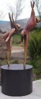 Just Dancing Bronze Sculpture AP 1996 48x24  Sculpture by Robert Holmes - 0