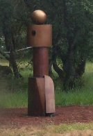 Mr. Geom (Monumental) Bronze Sculpture 2003 96 in Sculpture by Robert Holmes - 2