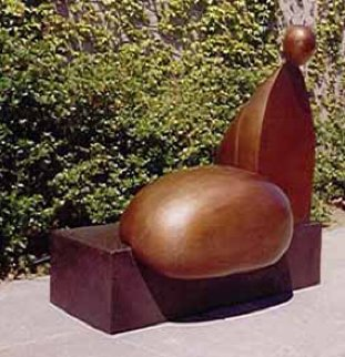Tossa De Mar Bronze Sculpture 2005 54x42 Sculpture by Robert Holmes