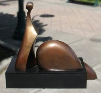 Brigitte Bronze Sculpture 2007 42x60 in Sculpture by Robert Holmes